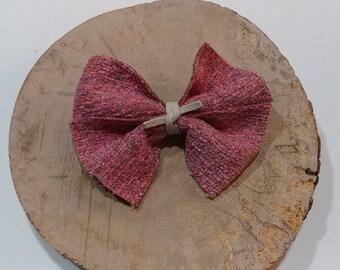 Pink hair bow, baby hair bow, girl hair bow, handmade hair bow, alligator clip