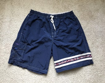Men's Vintage 90s Speedo Blue Swim Trunks Size Xl