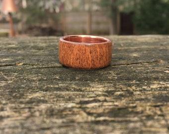 Bourbon, men's ring, wood rings, natural jewelry, men's gifts, wedding band, wedding ring