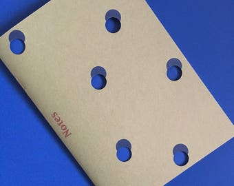 HAND MADE notebook - Handmade notebooks with polka dots
