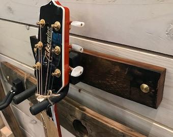 Whiskey Barrel Stave Guitar Hanger
