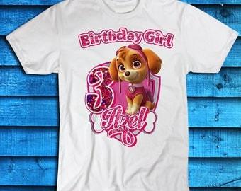 paw girls tshirt