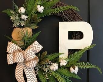 Birch and Cotton Wreath
