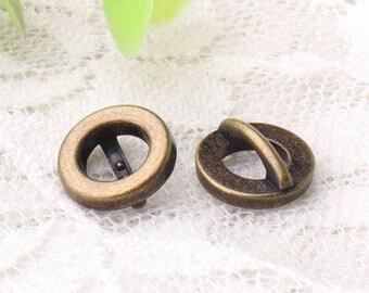 small buttons 10pcs 10*4mm metal zinc alloy buttons bronze buttons shirt buttons hollow buttons