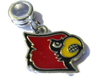 Louisville Cardinals Silver Plated Charm w/ Connector