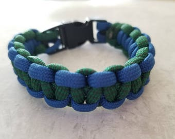 Green and Blue Paracord Bracelet
