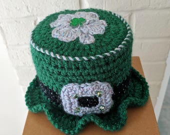 Irish Home Toilet Paper Tissue Roll Hat Cover Bathroom Decor St. Patrick's Day Shamrock B