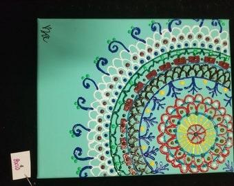 Puff Paint Mandala #4