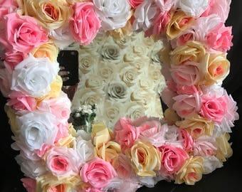Flower framed mirror