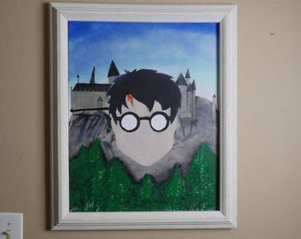 Harry Potter at Hogwarts, 16x20, Oil with some Acrylic on Canvas
