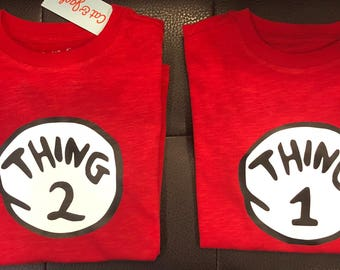 Think 1 Thing 2 shirts
