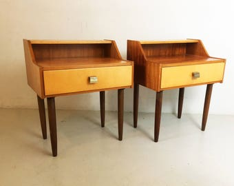 Pair of 1960's mid century bedside cabinets