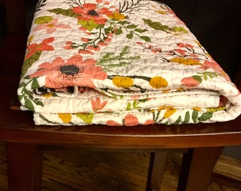 Whole cloth baby quilt