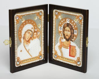 Folding Icon (The Lord's Prayer and The Blessed Virgin Mary)