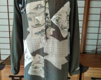 Tunic from antique Kimono