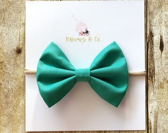 Turquoise Sailor Bow