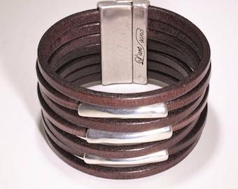 Bracelet leather, Viking, Celtic, Hadmade