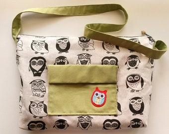 Shoulder bag, carrying strap, shoulder bag, big bag, big summer bag, woven bag, large shoulder bag, bag with owls