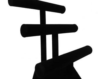 """Black Velvet T Bars Bracelet Display 12x12 3/4""""H"""