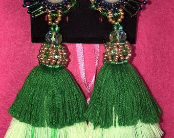 earrings bead embroidery