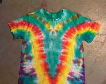 Rainbow V Tie Dye