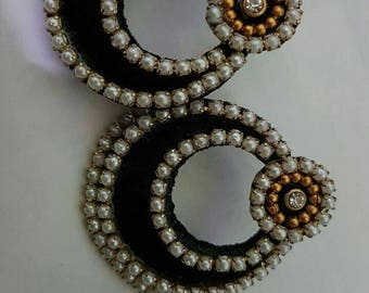 Silk thread chandabali earnings