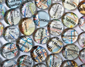 Map Magnets - NEW Set of 4 (you pick the regions) Perfect customized, personalized gift