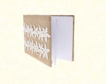 1pcs/Wedding Guest Book - Burlap