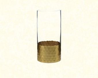 """Elsa Vase 3.75""""x8"""" - Gold Bottom"""
