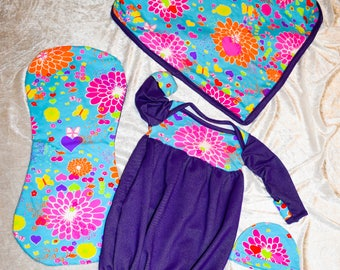 Pretty in Purple baby girl layette