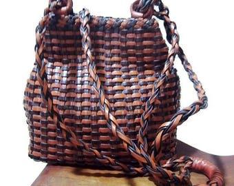 Fiber Street VINTAGE! classic beautiful handmade woven bag