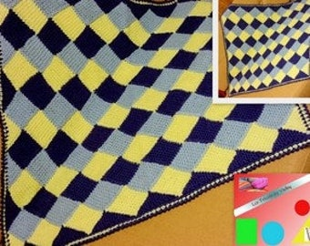 plaid gift blue yellow baby patterns baby blanket