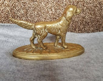 Solid Brass Dog made in England