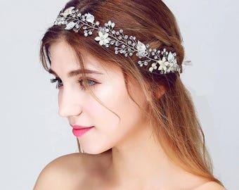 Bridal handmade floral hairband