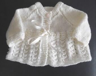 COMING SOON baby girl's cream matinee coat