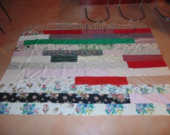 "Cotton Quilt Top Only New Ready For Binding 100"" X 71"""