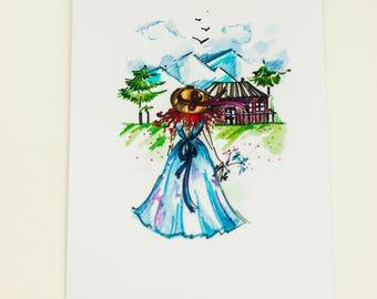 "Postcard ""Beautiful view"""