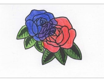 Overlapping Roses