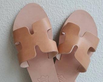 Sandals,Ermis, Greek God,Summer Shoes,Slides Sandals,Handmade In Greece,Handmade Sandals