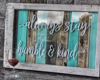 Humble & Kind Window