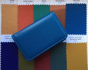 Warm Autumn Fabric Colour Swatches in Faux Leather Case