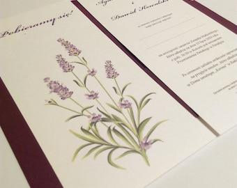 Lavender Wedding Invitation,