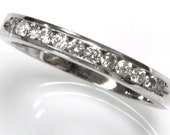 0.35 ct tw Natural Diamond (G-H, SI3) Gold Channel Wedding Band Ring