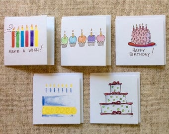 Square Gift Tags - Birthdays