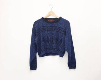 CROPPED SOUTHWEST SWEATER- S