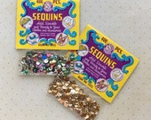 Vintage R Walco Sequins - 5 mm cup - Multi/Gold - ~800 qty