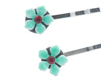 Bobby Pins Flower Hair Jewelry Set