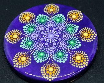 One of a Kind Concrete Mandala Coaster