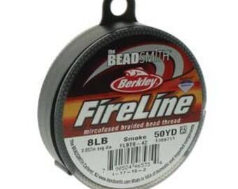Fireline, 8 LB, 50 yard spool, Smoke Grey