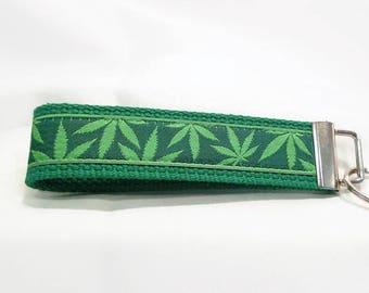 Cannabis Print Key Fob